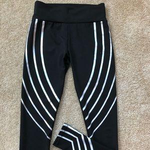 Pants - STIPPED BLSCK WORKOUT LEGGINGS
